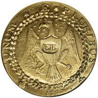 1787 DBLN Brasher New York Style Doubloon. EB Punch on Breast. XF45 NGC. Lots 30011 through 30017 represent what is almo...