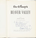 Movie/TV Memorabilia:Autographs and Signed Items, Walt Disney Signed and Inscribed Beaver Valley Book....