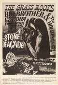 """Music Memorabilia:Posters, FD-11 """"Stone Facade"""" 1966 Big Brother & Holding Company Avalon Concert Poster. ..."""
