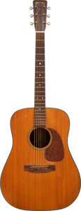 Musical Instruments:Acoustic Guitars, Suze Rotolo's 1957 Martin D-18 Natural Acoustic Guitar, Serial # 154103 . ...