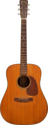 Suze Rotolo's 1957 Martin D-18 Natural Acoustic Guitar, Serial # 154103
