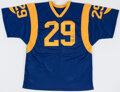 Autographs:Jerseys, Eric Dickerson Twice Signed Los Angeles Jersey - The Johnny Mack Collection....