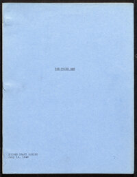 """The Third Man by Graham Green (Selznick, 1948). Very Fine+. Original Second Draft Script (118 Pages, 8.5"""" X 11""""..."""