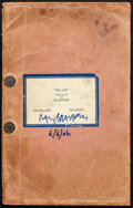 """Movie Posters:Adventure, Moby Dick by Ray Bradbury (Warner Bros., 1954). Fine. Signed Original Final Draft Script (Multiple Pages, 8.5"""" X 13.5"""") with... (Total: 2 Items)"""