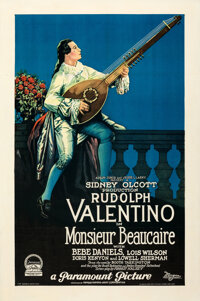 """Monsieur Beaucaire (Paramount, 1924). Very Fine+ on Linen. One Sheet (27"""" X 41"""")"""