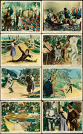 """Movie Posters:Fantasy, The Wizard of Oz (MGM, R-1950S). Very Fine-. British Front of House Color Photo Set of 8 (8"""" X 10"""").. ... (Total: 8 Items)"""