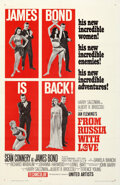 "Movie Posters:James Bond, From Russia with Love (United Artists, 1964). Very Fine on Linen. One Sheet (27"" X 41"") Style B.. ..."