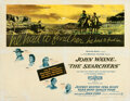 """Movie Posters:Western, The Searchers (Warner Bros., 1956). Fine- on Linen. Autographed Half Sheet (22"""" X 28"""").. ..."""