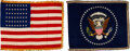 Political:Presidential Relics, Dwight D. Eisenhower: Set of Oval Office National and Presidential Seal Flags. ...
