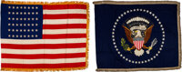 Dwight D. Eisenhower: Set of Oval Office National and Presidential Seal Flags