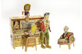Antiques:Toys, Marx Brutus Dippy Dipper, Windup Dogpatch Band & Six Character Friction Cars.... (Total: 3 Items)