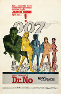 "Movie Posters:James Bond, Dr. No (United Artists, 1962). Fine+ on Linen. One Sheet (27"" X 41.5"") Yellow Smoke Style, Mitchell Hooks Artwork.. ..."