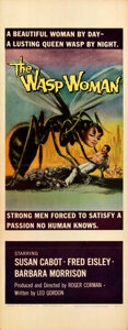 """Movie Posters:Science Fiction, The Wasp Woman (Film Group, Inc., 1959). Folded, Very Fine. Insert (14"""" X 36"""").. ..."""