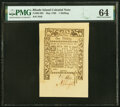 Colonial Notes:Rhode Island, Rhode Island May 1786 1s PMG Choice Uncirculated 64.. ...