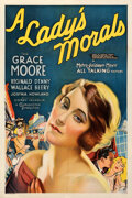 """Movie Posters:Musical, A Lady's Morals (MGM, 1930). Very Fine- on Linen. One Sheet (27"""" X 41"""").. ..."""