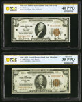 Small Size:Federal Reserve Bank Notes, Fr. 1860-B $10 1929 Federal Reserve Bank Note. PCGS Banknote Extremely Fine 40 PPQ;. Fr. 1890-D $100 1929 Federal Reserve ... (Total: 2 notes)