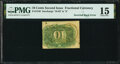 Milton 2R10.3d Fr. 1246 10¢ Second Issue Inverted Back PMG Choice Fine 15
