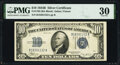 Small Size:Silver Certificates, Fr. 1703 $10 1934B Silver Certificate. PMG Very Fine 30.