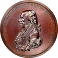 1809-Dated (Post-1861) James Madison Peace Medal, Large Size, Second Reverse, Julian IP-5, MS66 Brown NGC