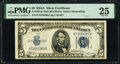 Small Size:Silver Certificates, Fr. 1651 $5 1934A Mule Silver Certificate. Back Plate 637....