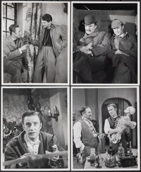 """Sherlock Holmes (Motion Pictures for Television, 1954). Very Fine-. Photos (4) (8"""" X 10""""). Mystery. ... (Total..."""