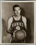 Basketball Collectibles:Photos, c. 1950s Ed Macauley Vintage Photograph - Image Used for his 1957-58 Topps Rookie Card. ...