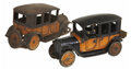 Antiques:Toys, Lot of Cast Iron Yellow Taxi Toys.... (Total: 2 Items)