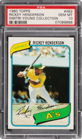 Baseball Cards:Singles (1970-Now), 1980 Topps Rickey Henderson Rookie #482 PSA Gem Mint 10--Dimitri Young Collection....