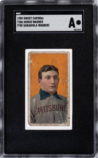 1909 T206 Sweet Caporal Honus Wagner (The Garagiola Wagner) SGC Authentic