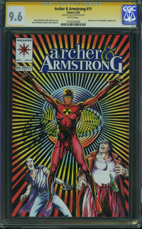 Archer & Armstrong #11 - Signed by Bob Layton on 5/30/15 (Valiant, 1993) CGC NM+ 9.6 White pages