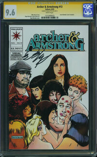 Archer & Armstrong #13 - Signed by Bob Layton on 5/30/15 (Valiant, 1993) CGC NM+ 9.6 White pages