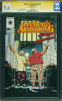 Archer & Armstrong #19 - SIGNED BY BOB LAYTON ON 5/30/15 (Valiant, 1994) CGC NM+ 9.6 White pages