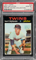 Baseball Cards:Singles (1970-Now), 1971 Topps Bert Blyleven Rookie #26 PSA Gem Mint 10--Dmitri Young Collection....