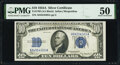 Small Size:Silver Certificates, Fr. 1702 $10 1934A Silver Certificate. PMG About Uncircula...
