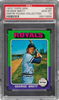 Baseball Cards:Singles (1970-Now), 1975 Topps Mini George Brett Rookie #228 PSA Gem Mint 10--Dmitri Young Collection....