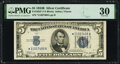 Small Size:Silver Certificates, Fr. 1652* $5 1934B Silver Certificate Star. PMG Very Fine 30.. ...