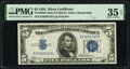 Small Size:Silver Certificates, Fr. 1650 $5 1934 Mule Silver Certificate. PMG Choice Very Fine 35 EPQ.. ...