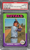 Baseball Cards:Singles (1970-Now), 1975 George Brett Rookie #228 PSA Gem Mint 10--Dmitri Young Collection....