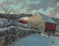 Paintings, Eric Sloane (American, 1905-1985). Pennsylvania Barn. Oil on Masonite. 22 x 28 inches (55.9 x 71.1 cm). Signed and title...