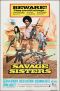 """Movie Posters:Bad Girl, Savage Sisters & Other Lot (American International, 1974). Folded, Very Fine-. One Sheets (2) (27"""" X 41"""") Style B, George Ak... (Total: 2 Items)"""