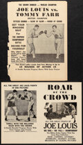 """Movie Posters:Sports, Roar of the Crowd & Other Lot (Norman, 1953). Fine. Boxing Handbills (2) (9"""" X 12""""). Sports.. ... (Total: 2 Items)"""