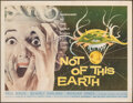 """Movie Posters:Science Fiction, Not of This Earth (Allied Artists, 1957). Fine+ on Linen. Half Sheet (22"""" X 28""""). Science Fiction.. ..."""