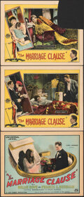 """Movie Posters:Drama, The Marriage Clause (Universal, 1926). Fine. Title Lobby Card & Lobby Cards (2) (11"""" X 14""""). Drama. From the Collection of... (Total: 3 Items)"""