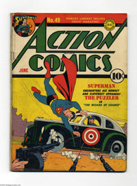 Action Comics #49 (DC) Condition: GD/VG. Superman aids a policeman. The Vigilante, Mr. America, and Congo Bill appear. W...