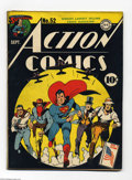 Golden Age (1938-1955):Superhero, Action Comics #52 (DC, 1942) Condition: FR/GD. Classic cover featuring Superman and his back-ups. Origin of the Vigilante re...