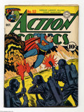 Golden Age (1938-1955):Superhero, Action Comics #53 (DC, 1942) Condition: VG+. Action-packed cover featuring Superman and flame-throwing Nazis. The Vigilante,...
