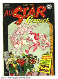 "All Star Comics #30 (DC, 1946) Condition: FN/VF. The Justice Society encounters ""Dreams of Madness!"" Hawkman..."