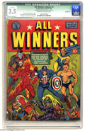 All Winners Comics #3 (Timely, 1941) CGC Qualified VG- 3.5 Cream to off-white pages. Carl Burgos, Mike Sekowsky, and Bil...