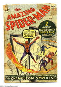 The Amazing Spider-Man #1 (Marvel, 1963) Condition: FR. Fantastic Four appearance. First appearances of John Jameson, J...