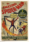 Silver Age (1956-1969):Superhero, The Amazing Spider-Man #1 (Marvel, 1963) Condition: FR. Marvel's most famous and enduring character debuted in his own title...
